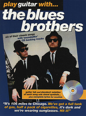 Play Guitar With The Blues Brothers TAB Music Book & Playalong Backing Tracks CD