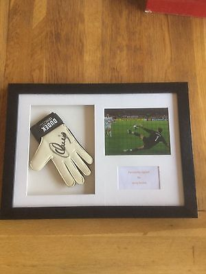 Limited Edition Hand Signed Jerzy Dudek Goalkeeper Glove - Framed - Excellent