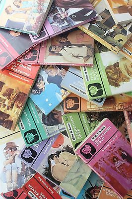 Mills & Boon Job Lot Collection 50 Random Vintage Black Rose Romance Books And
