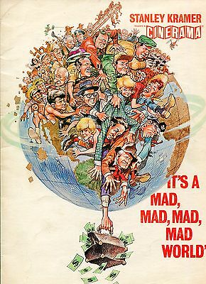 It's a Mad Mad Mad Mad World-Spencer Tracy-Milton Berle-9x12-Color-Program