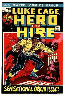 Hero For Hire #1 First Luke Cage Netflix series - First Issue Bronze-Age comic