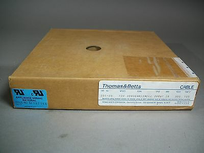 Thomas & Betts 201-26 Flat Ribbon Cable 26-wire 100ft 28awg 300v 30800AR/IM/LL