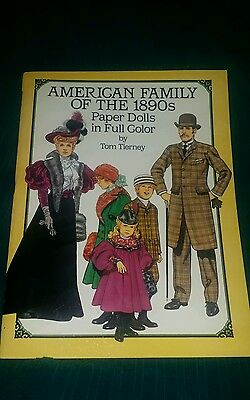 American Family Of The 1890's Paper Dolls In Full Color By Tom Tierney - 1987