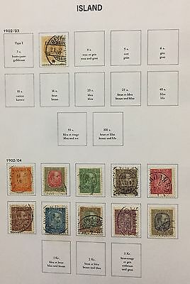 Island Iceland 1902/4 Lot Of 11 Used For Description Look At The Picture Rare