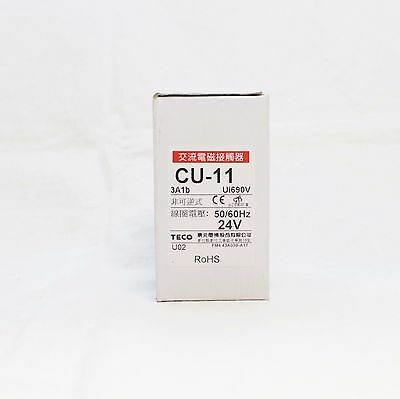 TECO CU-11 magnetic contactor, 24V coil 3A1b N/C (Replaces TAIAN CN-11)