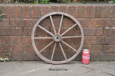 Vintage old wooden cart wagon wheel  / 44 cm FREE DELIVERY
