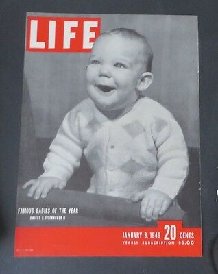 Original Life Magazine COVER ONLY January 3 1949 Famous Babies Dwight Eisenhower