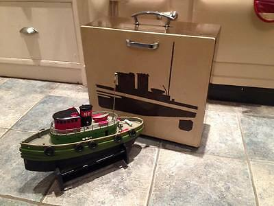 Vintage Radio Controlled Boat 1960s with matching case SUPERB