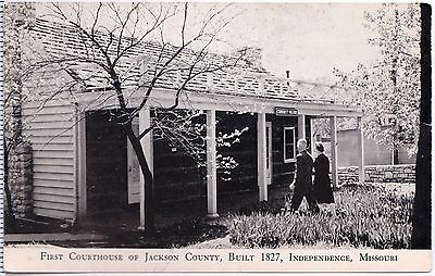 Independence Missouri MO First Courthouse Of Jackson County  B/W UDB