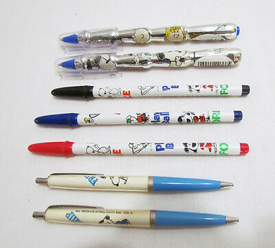 Snoopy Vintage Ball Point Pen & Marker Lot Of 7 Peanuts Gang Charlie Brown