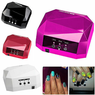 Professional 36W LED Lamp UV Nail Art Dryer Curing CCFL Gel Gelish Timer Acrylic