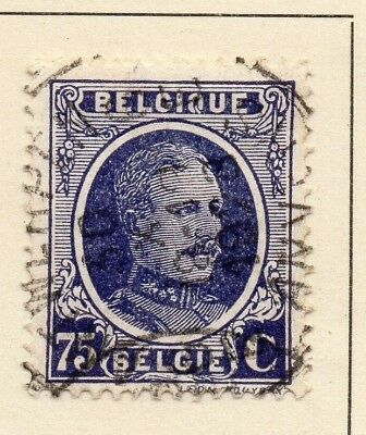 Belgium 1924-27 Early Issue Fine Used 75c. 124556