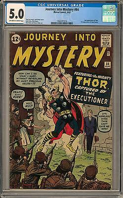 Journey Into Mystery #84 CGC 5.0 (OW-W) 1st appearance of Jane Foster 2nd Thor