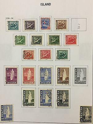 Island Iceland 1938/44 Lot Of 21 Used For Description Look At The Picture Rare