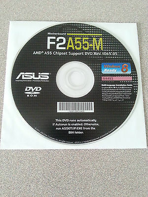 """NEW"" ASUS F2A55-M Motherboard Drivers Installation DVD"