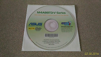 """NEW"" ASUS M4A88TD-V Series Motherboard Drivers Installation DVD"