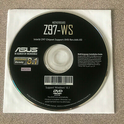 """NEW"" ASUS Z97-WS Motherboard Drivers Installation DVD"