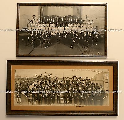 Two Vintage Photographs, Band and Choir, Montreal, Rice Photo, c. 1920's