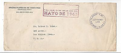 Costa Rica 1941 Official Cover to US, 4c x 5, Nice Cancels