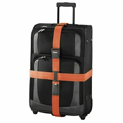 Hama 2 Way Suitcase Luggage Strap Travel Baggage Tie Down Belt - Orange