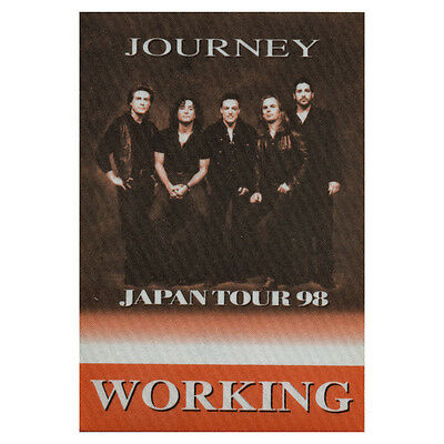 Journey authentic Working 1998 tour Backstage Pass