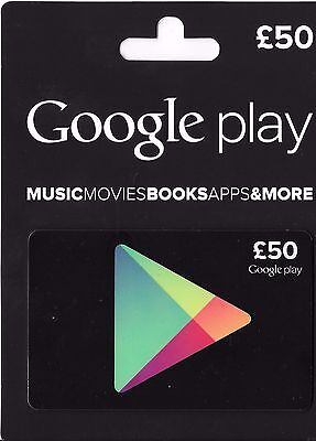 Google Play £50 British(UK) Gift Card