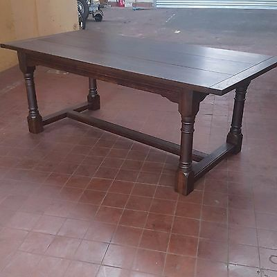 Antique/reproduction Large Solid Oak Farmhouse Rustic Refectory Dinning Table