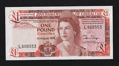 1988 Gibraltar £1 Banknote In Pristine Uncirculated Condition