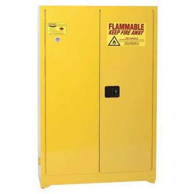EAGLE 4510 Flammable Safety Cabinet, 45 Gal., Yellow