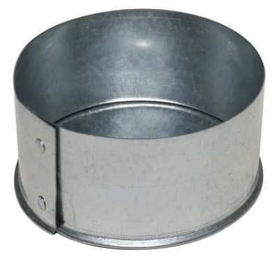 "Ductmate 6"" End Cap Round Duct Fitting, 26 ga., GRECP6GA26"