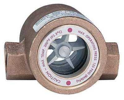 DWYER INSTRUMENTS SFI-300-1 Double Sight Flow Indicator, Bronze, 1In