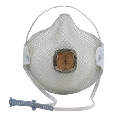 MOLDEX 2700N95 N95 Disposable Respirator w/ Valve, M/L, White, PK10