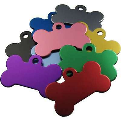 Pet ID Tags Dog Discs,Quality 32mm & 38mm Anodised Bone Shape ENGRAVED FREE