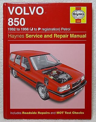 Volvo 850 Haynes Manual, 1992 - 96, Petrol, T5. Never Used. Excellent Condition