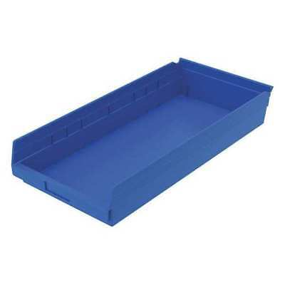 "Blue Shelf Bin, 23-5/8""L x 11-1/8""W x 4""H AKRO-MILS 30174BLUE"