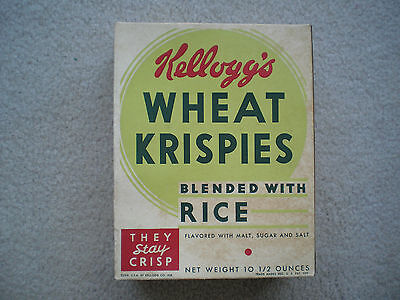 Kellogg's Wheat Krispies Display Cereal Box 1935 Don Winslow Navy Complete Rare