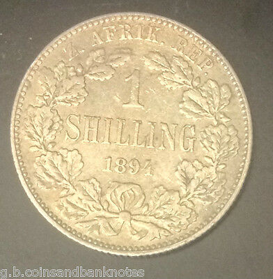1894 South Africa One Shilling Silver Coin Rare