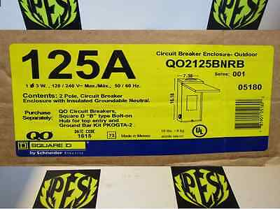 New Square D Qo2125Bnrb 125 Amp 120/240 Volt Nema 3R Rainproof Enclosure