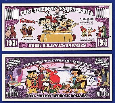 1-The Flintstones Dollar Bill Funny TV series-Cartoon -Collectible- MONEY-Y1