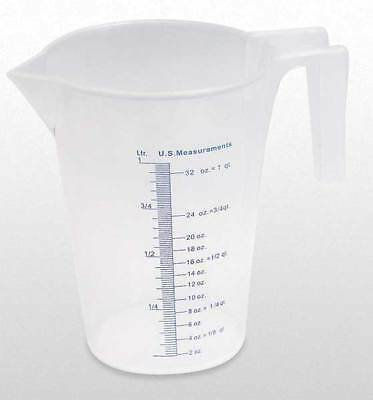 FUNNEL KING 94130 Measuring Container, Fixed Spout, 1 Quart