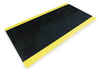 NOTRAX 831C0036BY-12 Switchboard Mat,Black,YllwBrdr,3ftx12ft