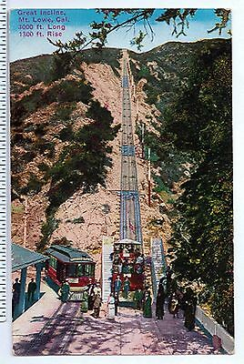 Great Incline Railway Track Mt. Lowe California Pacific Novelty Co. Postcard