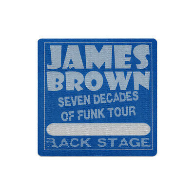 James Brown authentic Backstage 2006 tour Backstage Pass