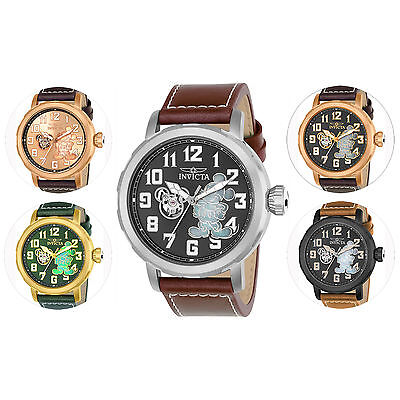 Invicta Limited Edition Men's Automatic Leather Strap Watch
