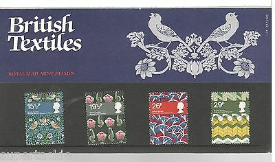 1982 Great Britain MNH BRITISH TEXTILES Royal Mail Mint Stamps