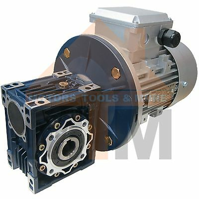 Three Phase 0.37kW 0.5HP 70rpm Type 40 Electric Motor & Worm Gearbox Drive i20