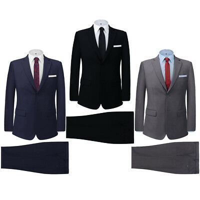 Men's Two Piece Formal Dinner Business Suit Jacket/Trousers Multi Colours/Sizes