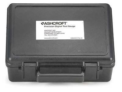 ASHCROFT 201B112-01 Carrying Case Hard Carrying Case, 7 In. H, 4 In D, Black