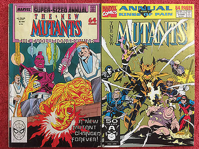 NEW MUTANTS Annual 4 7 Special Edition 1 VF+ Marvel LOT of 3 Simonson 1985 -1991
