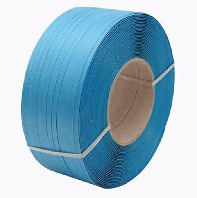 9HNDSTRP12BX - Blue Plastic Strapping Tape - Pallet Strapping - 12mm x 1000mtrs